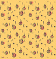 seamless pattern with falling coins vector image