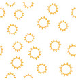 seamless sun pattern vector image vector image