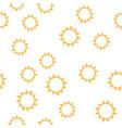 seamless sun pattern vector image vector image