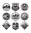 set adventure outdoor concept badges camping e vector image vector image