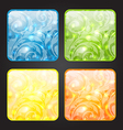 Set four seasonal icon floral colorful background vector image