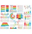 set infographic elements kit vector image