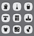 set of 9 editable cleanup icons includes symbols vector image vector image