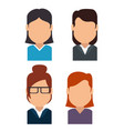 set of avatars profile pictures vector image vector image