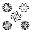 Set of elements for design-spiral flowers vector image