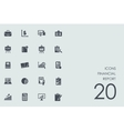Set of financial report icons vector image