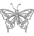 simple black and white butterfly vector image