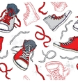 Sneakers Shoes Seamless pattern vector image vector image