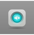 Speaker button vector image