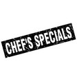 square grunge black chefs specials stamp vector image vector image