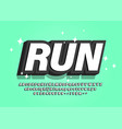 stylized bold font sport 3d black and white vector image vector image