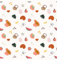 summer seamless pattern with watermelon papaya vector image