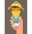 Taxi App for a Phone vector image vector image