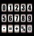 ticker counter vector image vector image