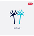 two color sparkler icon from india and holi vector image