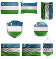 uzbekistan flag background vector image vector image