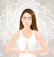 Woman meditating vector image vector image