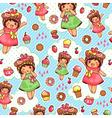 happy sweet pattern vector image