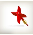 Plastic Red Dart Isolated on White Background vector image