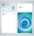blue whirlpool logo identity vector image