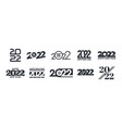 2022 happy new year logo different variations vector image vector image