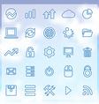 25 big data database icons set vector image