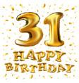 31 years birthday celebration design for greeting