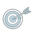arrow hitting a target business solution concept vector image vector image