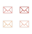 assembly realistic sticker design on paper email vector image vector image