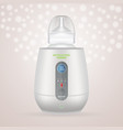 baby bottle warmer and feeding bottle isolated on vector image vector image