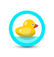 bath duck icon vector image