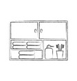 bathroom modular furniture towels other vector image