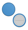 blank blue badge vector image vector image