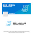 blue business logo template for analysis vector image