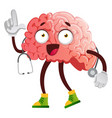 brain is a doctor on white background vector image