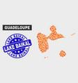 burn mosaic guadeloupe map and grunge lake baikal vector image vector image