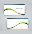 business card simple template with stripes vector image