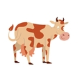 Cartoon cow character isolated vector image
