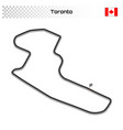 circuit for motorsport and autosport vector image vector image