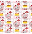 Circus elephant on a pedestal vector image vector image