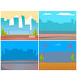 cityscapes and urban territories city and town vector image vector image