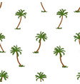 coconut palm tree seamless pattern on white vector image
