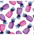 concept pink and ultraviolet pineapple vector image vector image
