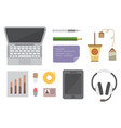 creative office workplace modern vector image