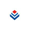 cube abstract construction logo vector image