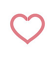 cute heart love symbol decor vector image