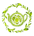 decorative ornament herbal circle vector image vector image