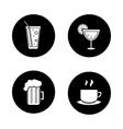 Drinks black icons set vector image vector image