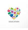 Education learning student and school icon vector image