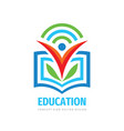 education logo template design element learning vector image vector image